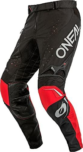 O'NEAL | NEU | Motocross-Hose | MX MTB Mountainbike Motorrad Enduro | Langlebige Materialien, Atmungsaktiven Denierstoffen | Prodigy Pants Five One V.22 | Erwachsene | Schwarz Grau Rot | Größe 28/44