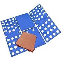 Pantalones camisa ropa interior niños y adultos tabla plegable plegable ropa interior auxiliar ropa camiseta plegable carpeta de lino combinada lino junta plegable tabla clip de camisa (Azul)