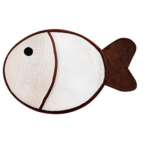 ETbotu Pet Wear Resistant Catnip Scratching Pad mit Sound Papier Katzenspielzeug Fischform