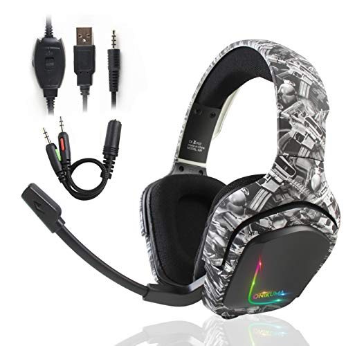 ATUTEN Gaming-Headset Dianjing Professional Gaming-Headset 3,5-mm-Mikrofon-Surround-Sound-Headset kann Rauschen beseitigen Kompatibel mit PC/Mac/Xbox One / PS4 / Nintendo Switch