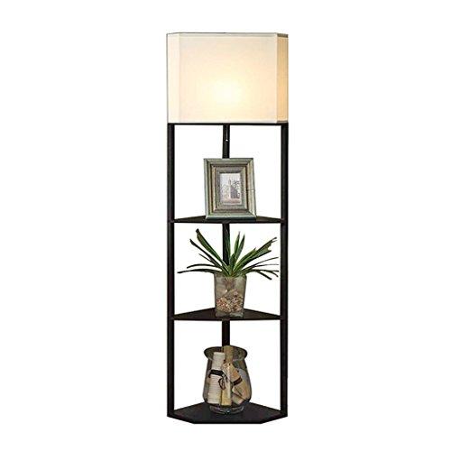 Stehleuchte schwarze Eckregal Couchtisch chinesischen Wohnzimmer Stehlampe, Schlafzimmer Nachttischlampe kreative Sofa Lampe 158 * 35,5 * 35,5 cm A+