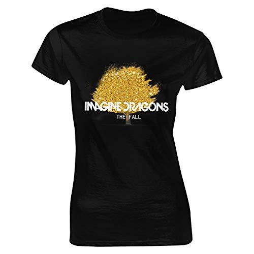 Camiseta de manga corta para mujer con el logotipo de The Dragons de Imagine negro XL