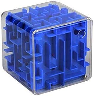 مكعبات متاهة شفافة ثلاثية الأبعاد ألعاب كرة متاهة ثلاثية الأبعاد تدور مكعب روبيك - أزرق