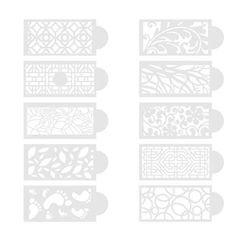 Blumenmuster Backen Schablonen Dekor ,Backen Werkzeug Kuchen Schablone,Wiederverwendbar für Kuchen Schokolade Dessert ,,DIY Kuchen Form Fondant Blumenmuster-Form (A)