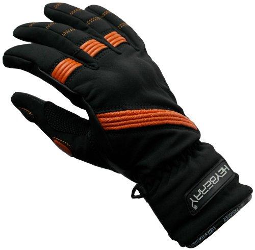 HEYBERRY Damen Motorradhandschuhe Textil Schwarz Orange Gr. XS