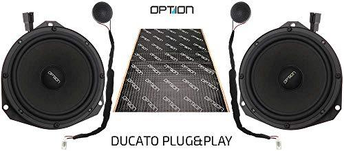 OPTION-DUCATO Lautsprecher-Komplettset kompatibel mit FIAT Ducato/Peugeot Boxer/Citroen Jumper - 100% Plug & Play Lautsprechersystem, 70 WRMS, 3 Ohm