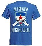 aprom Yugoslavia Camiseta Retro Vintage Blue 18 azul XXL