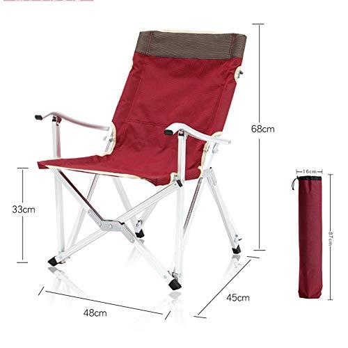 Silla plegable para pescar/camping al aire libre con portavasos y bolsa de transporte, ligera portátil + descanso para el almuerzo al aire libre + reclinable fiable, respaldo alto moderno Size 1
