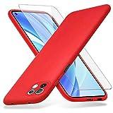 Richgle Compatibile con Cover Xiaomi Mi 11 Lite 4G / 5G & Pellicola Vetro Temperato, Sottile...
