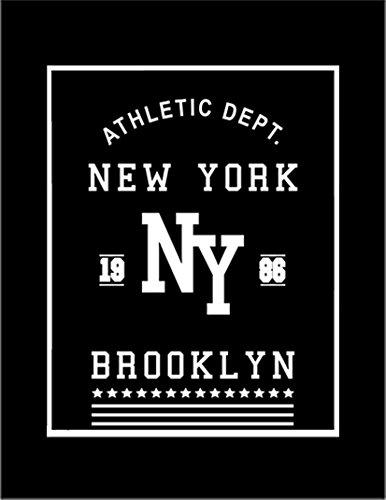 【ニューヨーク ブルックリン】 余白部分にオリジナルメッセージお入れします!ポストカード・はがき(黒背景)