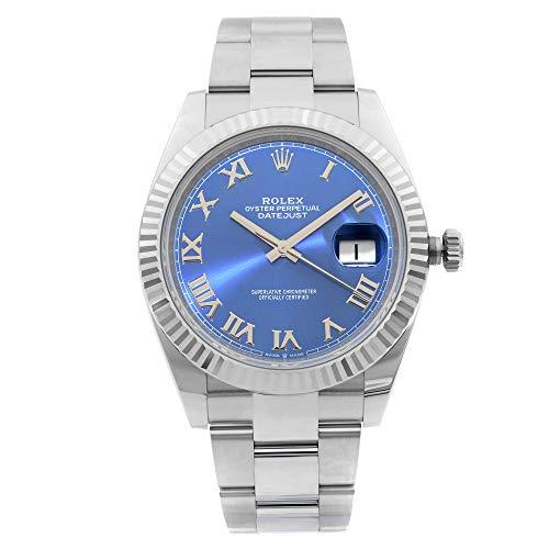 Rolex Datejust II 126334 BLRO - Reloj de pulsera para hombre, 41 mm, acero dorado y azul