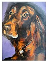 数字でデジタル絵画アイリッシュセッター犬のペイントDIY油絵キャンバスプリント壁アート家の装飾