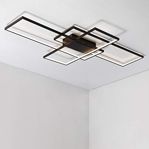 Moderno 95W LED Plafoniera Soggiorno Lampada da Soffitto Rettangolo Acrilico Paralume in Alluminio Quadrato Designer Lampada a Sospensione Cucina Sala da pranzo Ufficio scala Applique a muro Lampadari