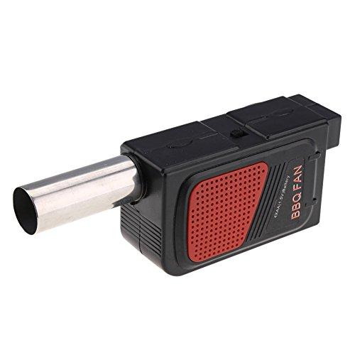 Demarkt Tragbare Außen Elektro Gebläse BBQ Fan Grillgebläse für Barbecue Kochwerkzeug Elektrisch batteriebetrie