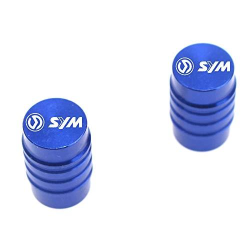 JIANXING Durable con estilo Motocicleta CNC Aluminio Accesorio de aluminio Válvula de neumático Tapa de válvulas para Sym MaxSym 400 600i TL 500 Joyride Cruisym 150 180 300 (Color : Blue)
