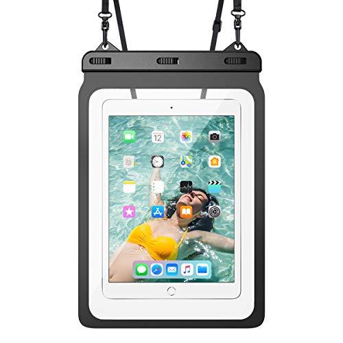 Yokata wasserdichte Tasche Tablet Universal Wasserschutzhülle bis 12,9 Zoll Unterwasser Wasserfeste IPX8 Schutztasche Schwimmen Baden für iPad 2/3/4, Air 2/3, Mini 2/4/5, Pro 11/12.9, Samsung Huawei