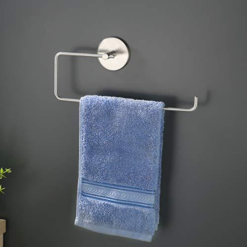 KES Handtuchring ohne Bohren Bad Handtuchhalter Edelstahl SUS304 Handtuch Halter Ring Handtuchstange Selbstklebend Wandmontage Kleben Gebürstet, KPH204DF-2