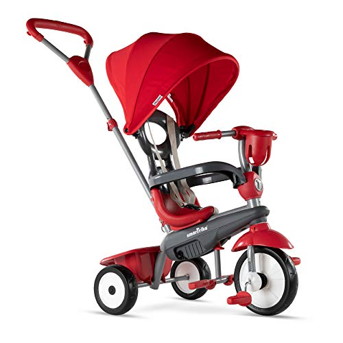 smarTrike Breeze Plus Toddler Tricycle for 123 Year Olds  4 in 1 MultiStage Trike Red