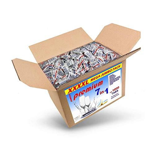 18 kg (ca.1000 Stück) Spülmaschinentabs 7 in 1 in normaler Folie, BRUCHWARE, Qualitätsware für jede Spülmaschine geeignet, Geschirrspültabs, Spültabs