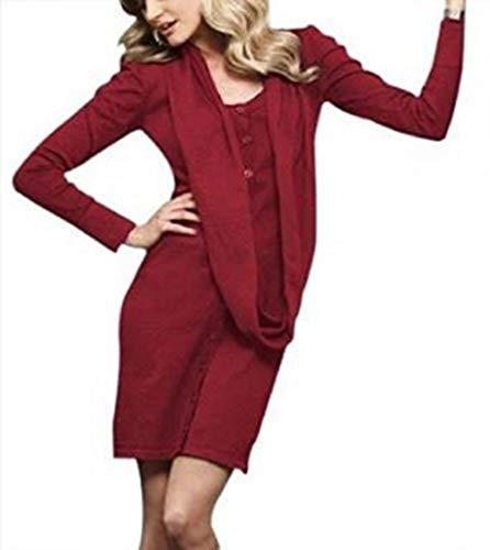 Feuriges Strickkleid Kleid von BC in Rot Gr. 38