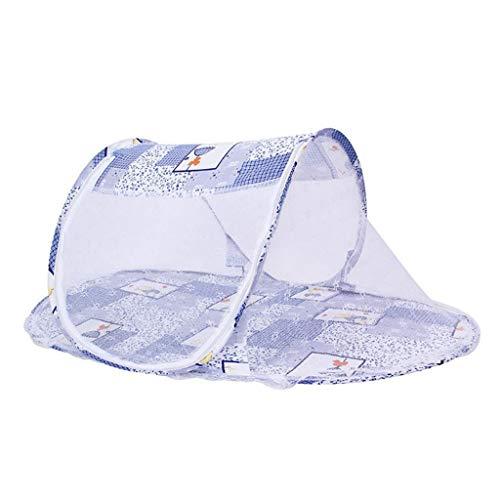 YQ&TL Moustiquaire pour Enfants Installation Gratuite pour bébé Berceau de Fond pour bébé Pliage en Twill Bateau Bébé Yourte Moustiquaire Portable Ttravel Outdoor Home (110 * 60 * 38cm), Bleu