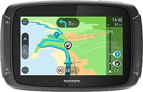 TomTom Rider 42 Motorrad-Navi (4,3 Zoll, mit kurvigen und bergigen Strecken Speziell für Motorräder, Karten-Updates, Zentraleuropa 19 Länder, TomTom Traffic und Radarkameras-3 Monate, Freisprechen)