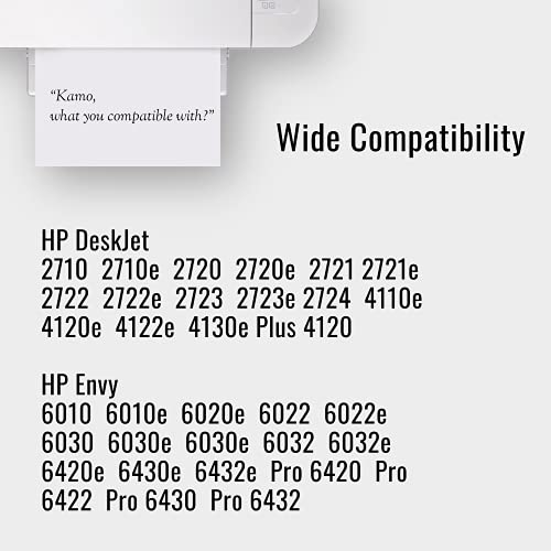 Kamo 305 XL Cartuchos Compatible con el HP 305 305XL Cartucho de Tinta Multipack, para Deskjet 2720e 2721 2722e 2723e 2722 2723 2710e 2710 2720, Envy 6030e 6020e 6022 6010 6010e 6420 6022e 6030 6030e