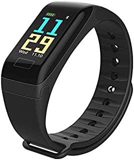 Wireless Bluetooth F1 Smart Bracelet With Heart Rate Tracker Pedometer
