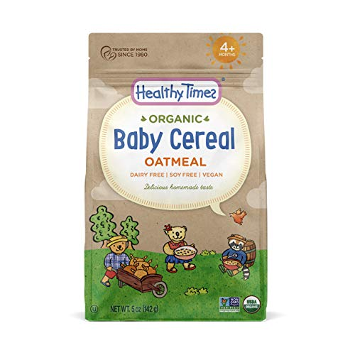 Healthy Times Organic Whole Grain Baby Cereal, Oatmeal | Baby Food for Babies 4 Months & Older | 5 Oz. Bag, 1 Count