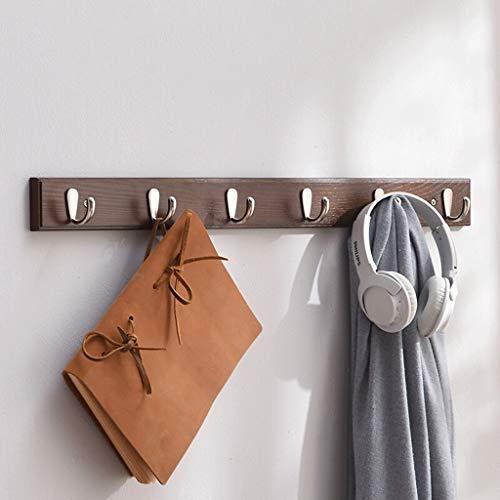 DYY Holzkleiderhaken, for Kleidung Entryway Foyer Speicherorganisation Badezimmer-Tuch-Key Zubehör Haushalt Haken Mantel und Hut-Rack (Color : 6 Hooks)
