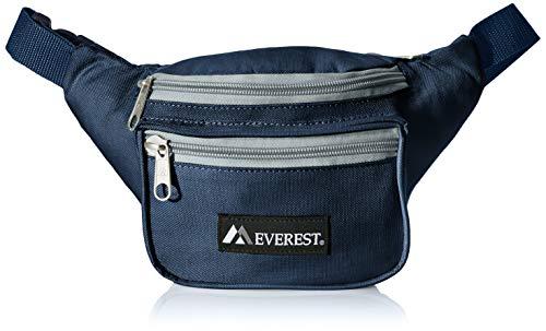 Everest Signature Waist Pack - Standard, Navy/Gray, One Size