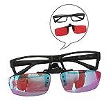 hewyhat colore rosso-verde occhiali ciechi clip a scatto daltonismo resina correttiva lenti rosse sia per uso interno esterno per uomo e donna, full frame