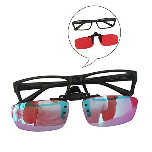 HEWYHAT Kleur Blinde Bril voor Mannen met Rood-Groen Blindheid, Visie stoornis, Correctieve Clip-On Paars Blauwe Lens, Gebruik voor Outdoor Indoor