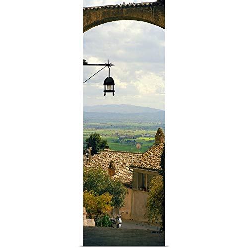 GREATBIGCANVAS Umbrian Countryside viewed Through an Alleyway, Assisi, Perugia Province, Umbria, Italy Poster