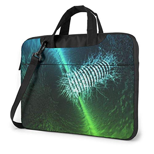 Laptop Case Computer Bag Sleeve Cover Green Blue Neon Waterproof Shoulder Briefcase