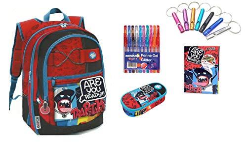 Pavillon Go Pop Trapstar dehnbar 5 Grafiken von GIOCHI PREZIOSI Stile Americano + Ovaler Reißverschlusstasche + Tagebuch + gratis Pfeife + 10 farbige Stifte