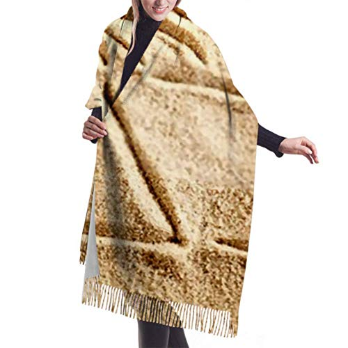 Pashmina Shawls and Wraps Scarf, Classic Cashmere Feel Unisex Winter Scarf, Sand Sun Background Long Large Warm Scarves Wrap Shawl Stole