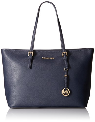 Michael Kors Jet Set Travel, Damen Tornistertasche, Blue (Admiral), 12.7x29.2x43.2 cm (W x H L)