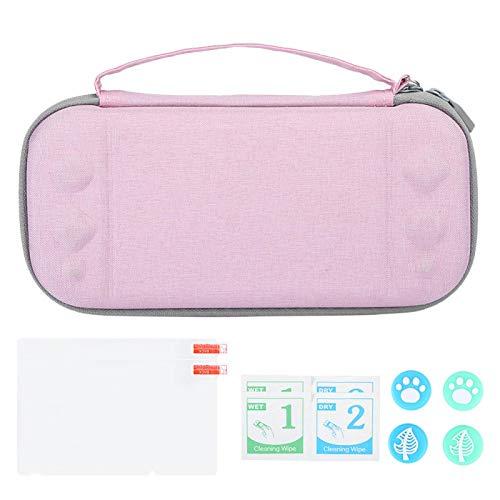 Bolsa de Almacenamiento Estuche Protector portátil para Switch Game Host(Pink, Polar Animals)