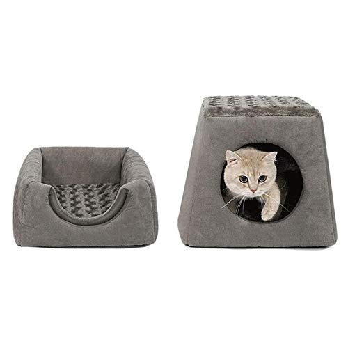 SCDCWW Casa multifuncional, plegable suave del animal doméstico agujero cama, cama del animal doméstico, sofá de estilo vida sofá, cama del animal doméstico, duradero y cómodo, desmontable y lavable c