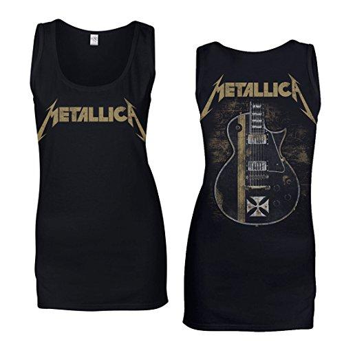 Metallica Hetfield Iron Cross Vest Fitted (Unisex) Negro XL