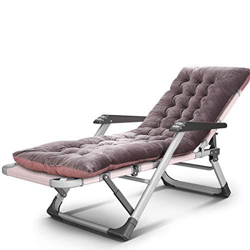 Silla plegable Erik Xian Furniture – Tumbona plegable de gravedad cero reclinable y plegable al aire libre, con reposacabezas acolchado ajustable y cómodo tejido textoline, diseño clásico