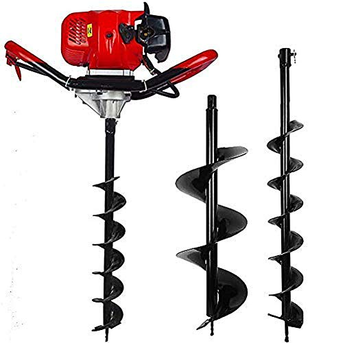Heavy Duty Gas Powered Post Hole Digger 52cc Petrol Earth Auger Digger...