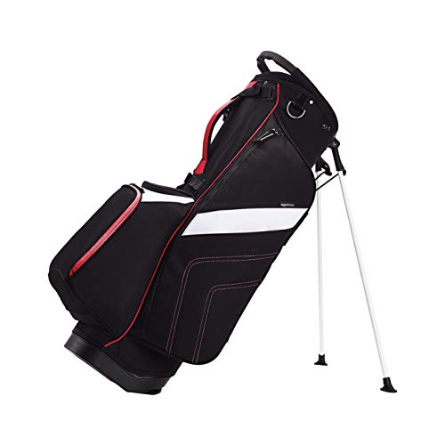AmazonBasics Golf Club Crossover Stand Bag  Red