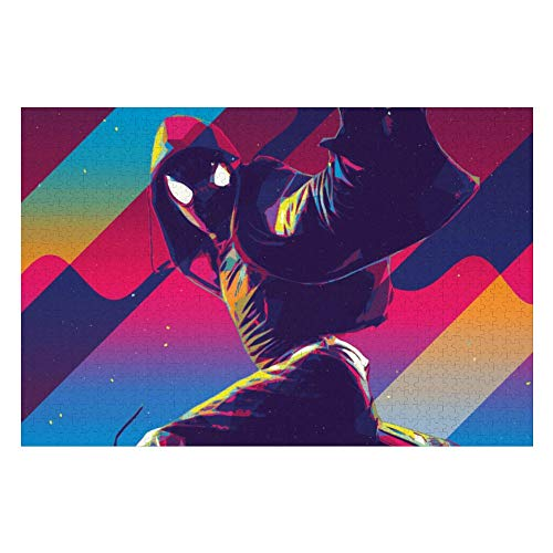 Wooden Jigsaw Puzzles Adults, Spiderman (154), Challenge and Fun, for Teens Kids, 500 pcs