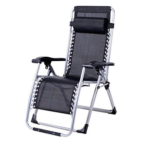 Rollsnownow Noir Pas Coussin Chaise Pliante Déjeuner Pause Chaise Longue Chaise de Loisir Loisirs Chaises Paresseux Canapé Pour Les Personnes Agées