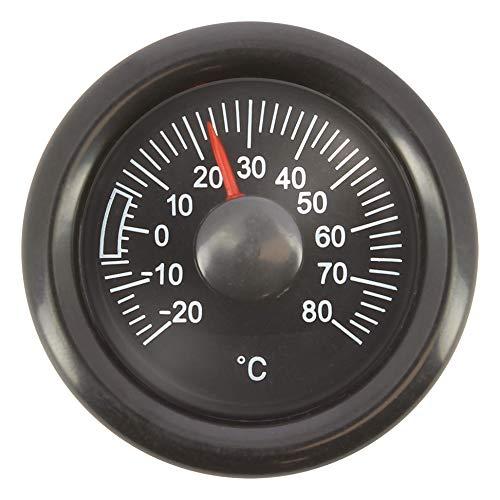 SUMEX TERM628 analógico para Interiores de Coche, Oficina o Casa, Termómetro Adhesivo Temperatura Grados Centígrados Pequeño y de Fácil Lectura, Negro, Mediano