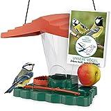 WILDLIFE FRIEND I Pajarera Piepmatz – Oasis para pájaros con Libro de Aprendizaje [Libro electrónico], Soporte para Bolas de pájaro y Bebedero...