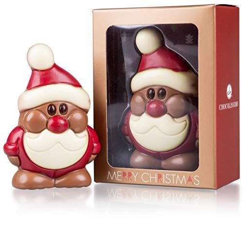 Père Noël en chocolat au lait - Idée-cadeau Noël - Homme - Femme - Grand-père - Grand-mère - Garçon - Fille - Figurine en chocolat - Chocolat de Noël