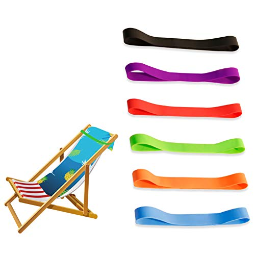 Beach Chair Clips Bands for Towel Rubber Elastic Thick...